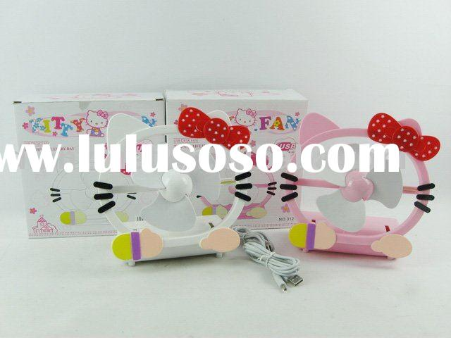 Mini USB fan hello kitty shape USB gadgets promotion gift