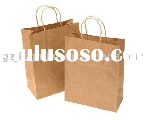 New style brown kraft paper bag