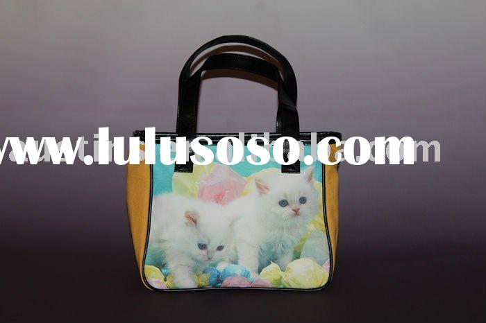 Newest animal design small canvas tote bag
