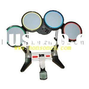 PS2/PS3/WII/PC 4 in 1 wireless drum kit for rockband & ROCKBAND 2 games