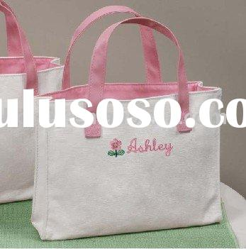 Personalized Flowergirl Canvas Tote Bag
