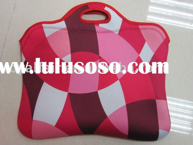 Pink pattern Laptop sleeve case with handle