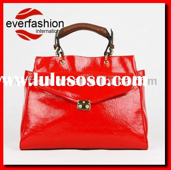 Quality discount bag made by  crincle patent leather direct from bag factory, EV-1144