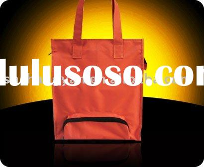 Red canvas bag /small zipper pocket outside (CA-022)
