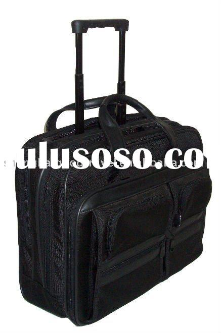 Simulated Leather Trolley Briefcase,wheeled briefcase,Business case