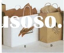 White& Brown Kraft paper bag