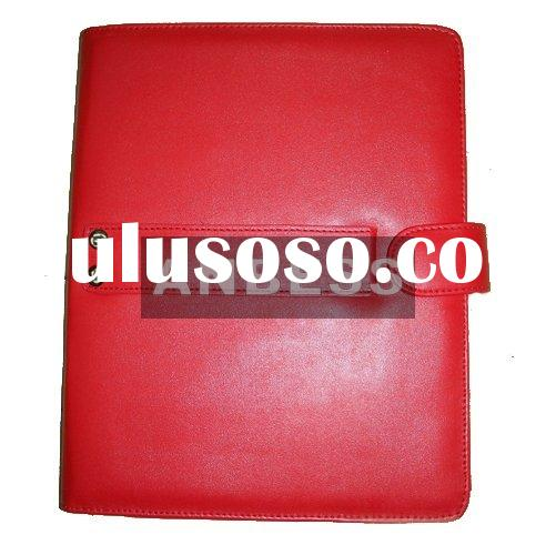 Wholesale red leather case for iPad