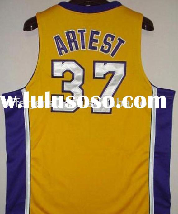 $21~$23 wholesale mixed order Los Angeles Lakers #37 Ron Artiest white sports jersey size 48-56