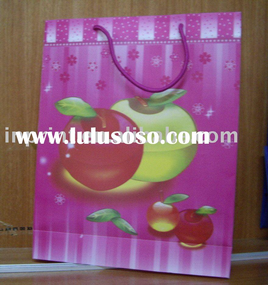 apple paper bag, fashion paper bag,gift bag
