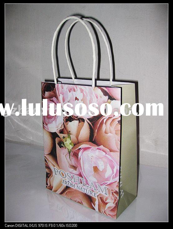 cosmetic paper packing bag/craft paper bag design BX 68