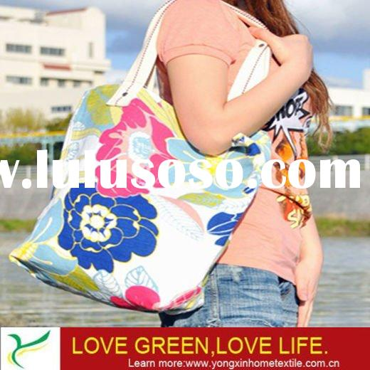 full color printed canvas handbag(YXSPB-802)