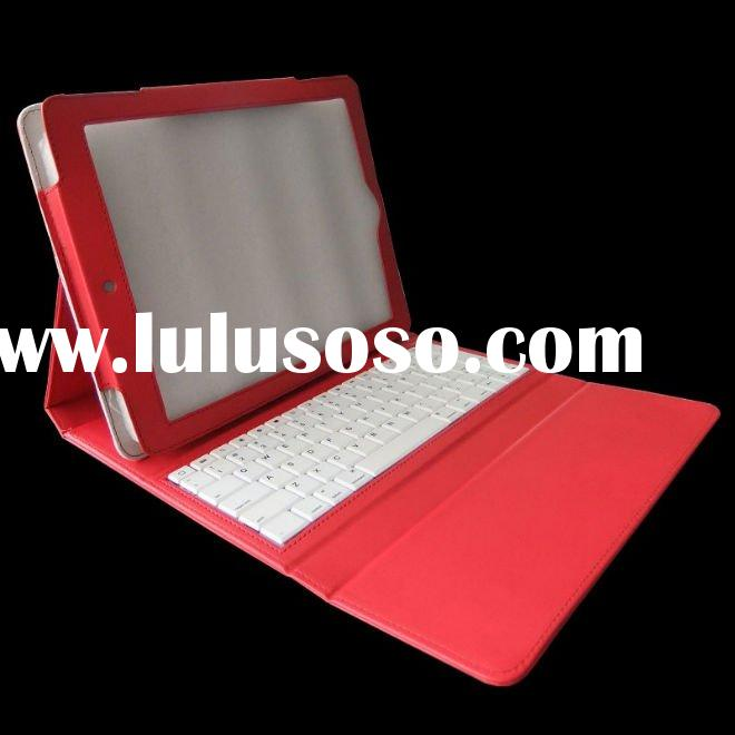 k1880 red leather case+ keyboard for tablet pc +ABS keys+Scissors feet