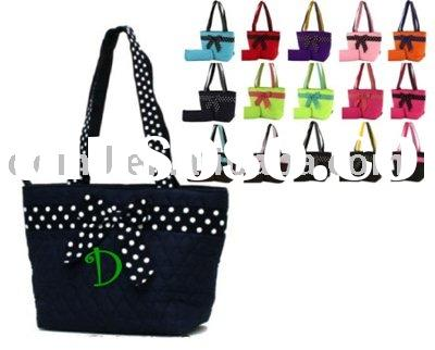 monogrammed tote bags with long handle MOM-002