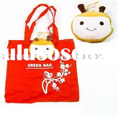 plush animal recycle bag, soft animal promotional bag, non-woven shopping bag, plush cartoon animals