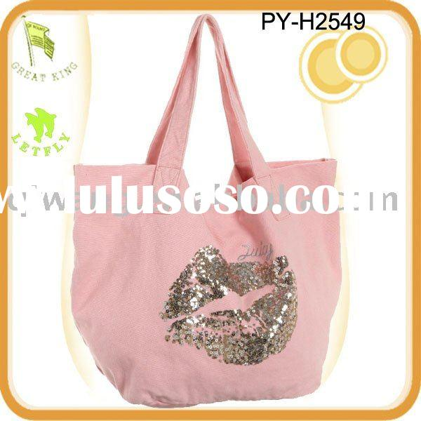recycle cotton canvas tote bag