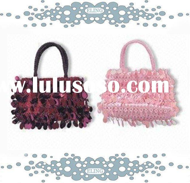 small handbag for children, with shiny sequins decoration