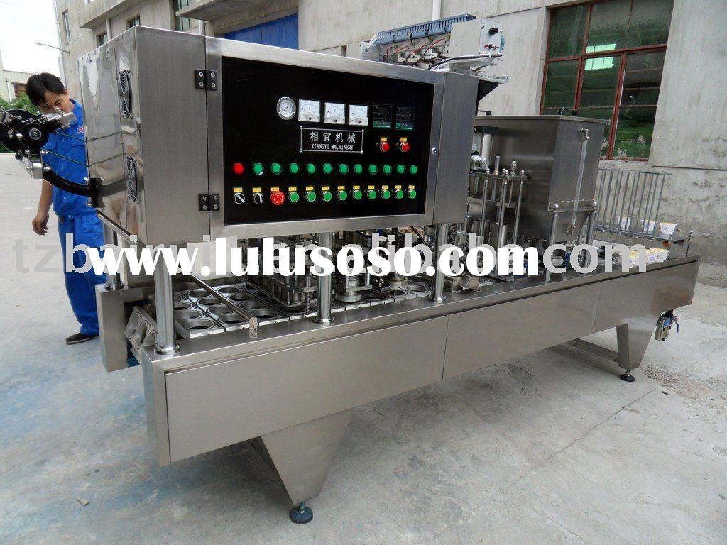 Automatic bowl  filling and sealing machine