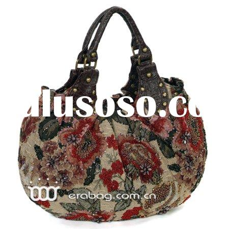 Exotic Classical Beaded Handmade  Women's Fossil Handbag