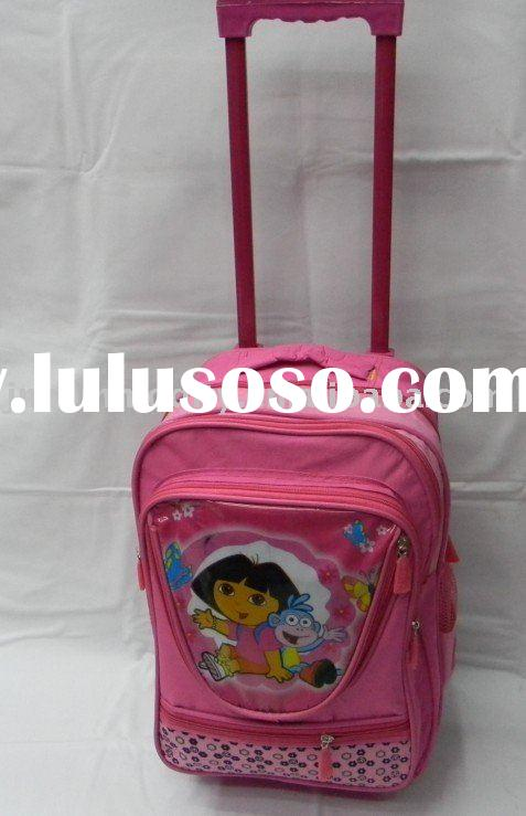 Fashion Trolley Kids School Bag Wheels Girls