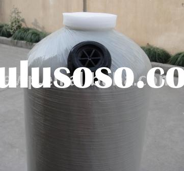 Fiberglass filter/softener tank with dome hole/side hole