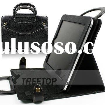 Genuine leather case for iPad 2 with leather handles