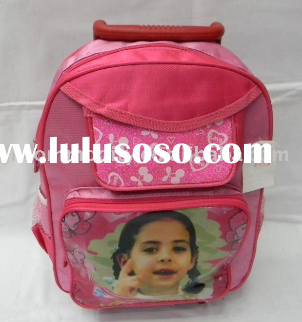 Girls Fashion Kids School Bag Wheels