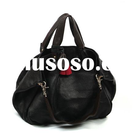 Hot selling small order genuine leather fashion lady handbag- dual-use leather handbags
