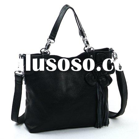 Larger capacity small order genuine leather fashion lady handbag  wholesale handbag