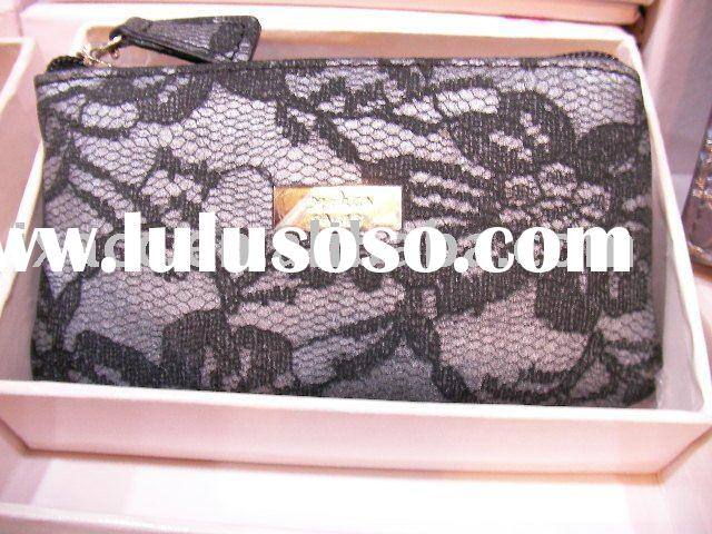 Laser lace pattern genuine leather coin purse/ key bag