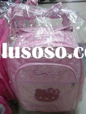 Wholesale 12x hello kitty  Wheel School Bag Gift Mix Order  Drop shipping C7060