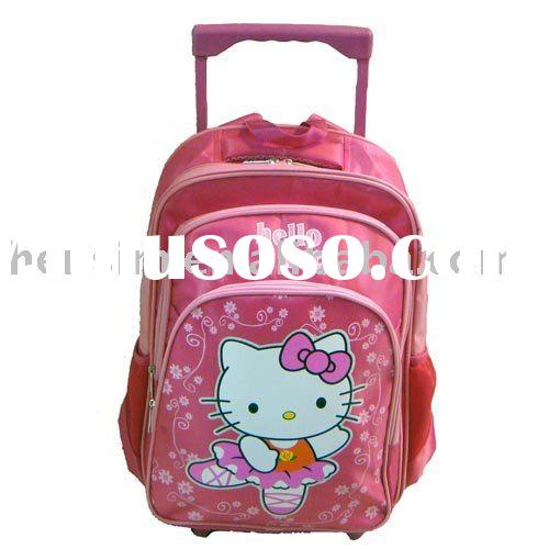 Wholesale Hello Kitty school bag & Wheel bag HS2420 nylon schoolbag + Top quality + Fast shippin