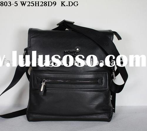 black leather men's messenger bag casual handbags