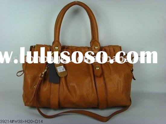 fashion leather bag tote brown