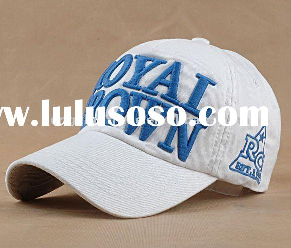 nice embroidery 100% cotton baseball hat