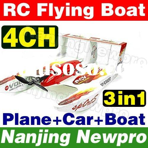 4Ch 3 in 1 Hydro-Glider RC toys radio remote control airplane flying Boat r/c stunt vehicle floatpal