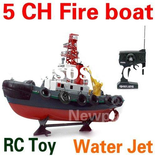 5 Channel RC Fire Boat RC Electric Radio Remote Control Toys Ship rc boats toys with water jet funct