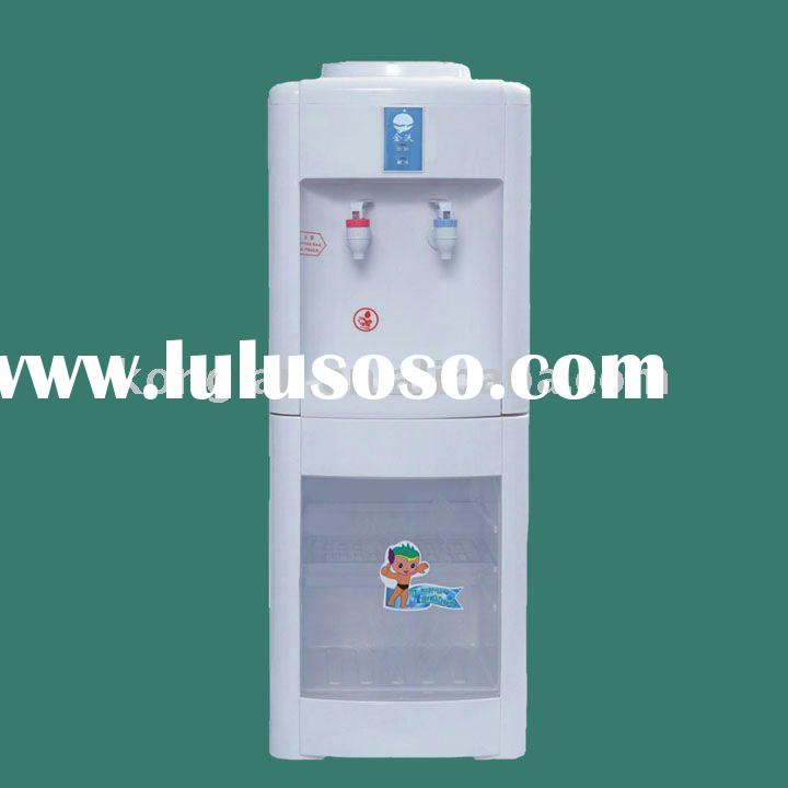 Bottled Floor Standing Water Cooler with sterilization cabinet ,cold and hot water dispenser
