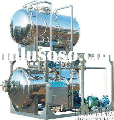 Double layers hot water cycle sterilizing machine