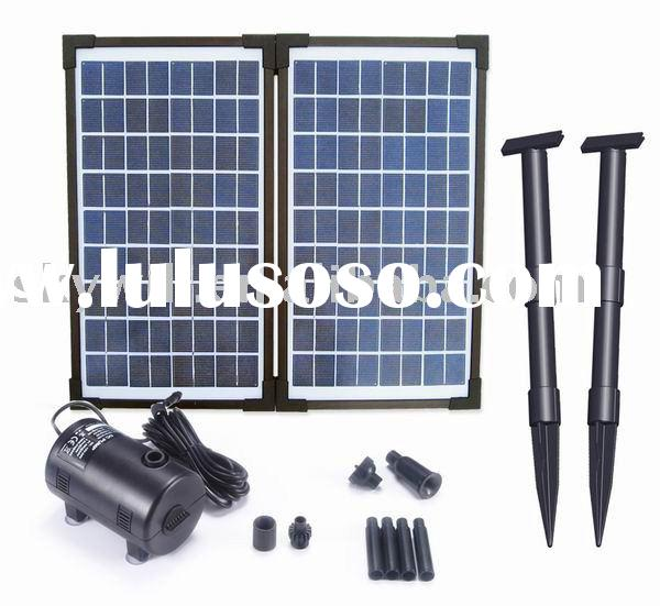 20Watts Flow-Adjustable Solar Fountain Pump Kit With Submersible Brushless Motor