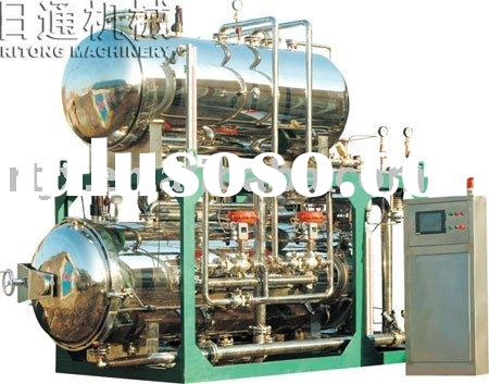Double layers of high temperature and pressure hot water cycle regulate type retort