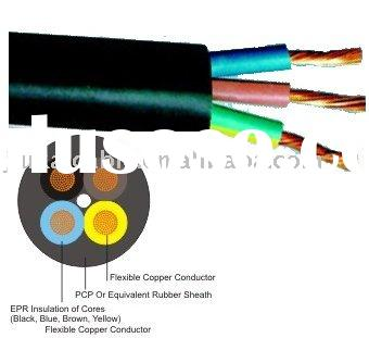 H07RN Cable / Rubber Submersible Pump cable 3 Core