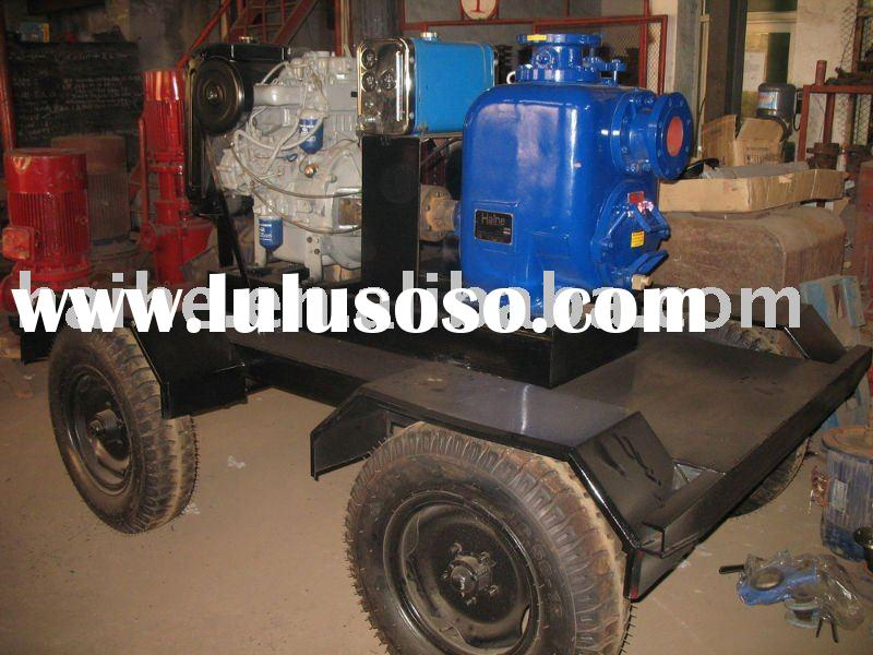 trailer mounted trash pump