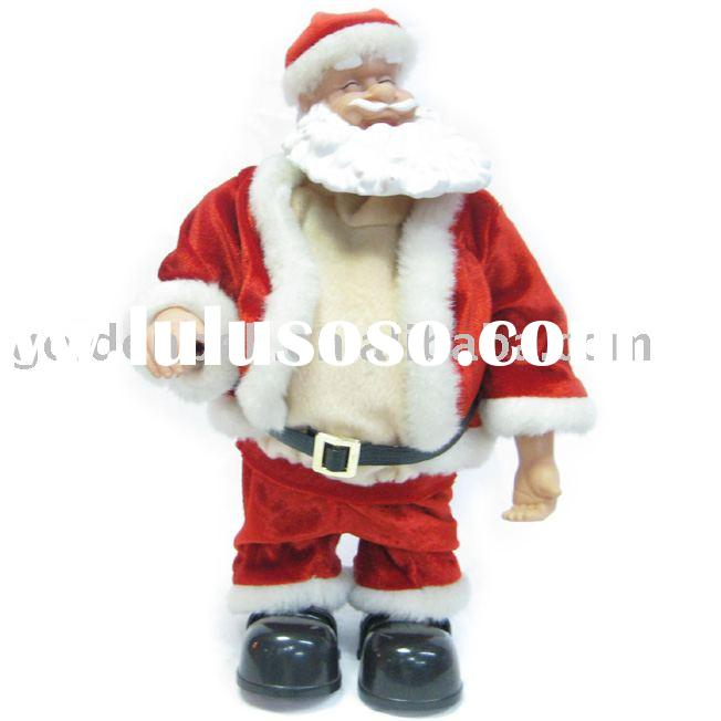 14''belly dance santa with nice music,battery operated. ,christmas toy