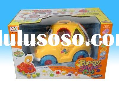 Baby building Block fruit car toy /educational  pre school toy