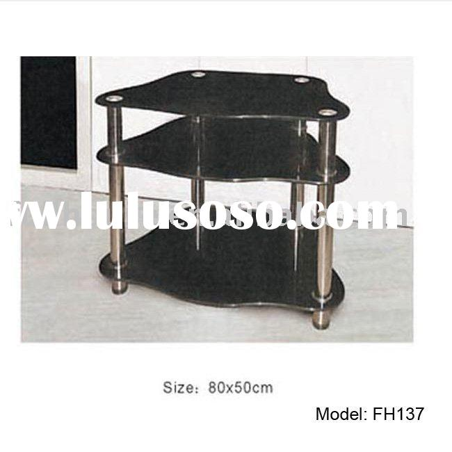 Cheapest tempered glass lcd tv stand