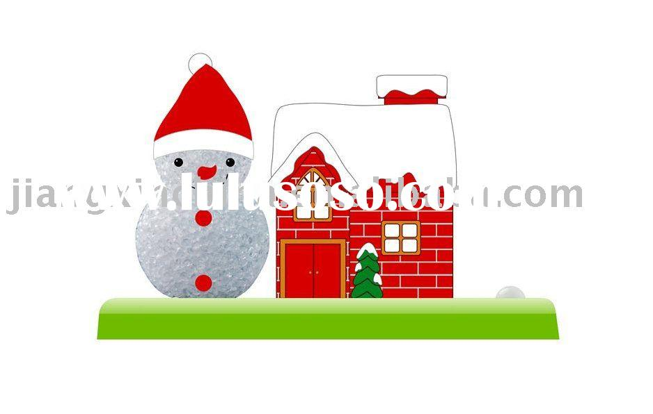 Christmas Snowman night light with house shaped coin box
