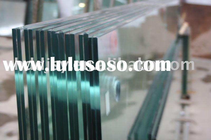 Clear float tempered glass with flat edge holes