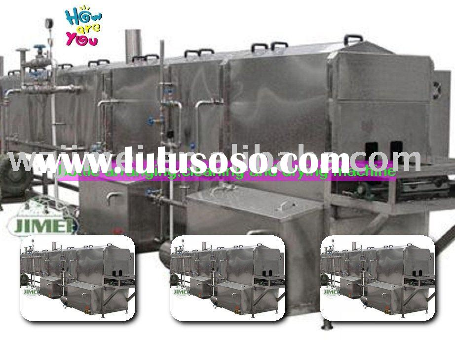 Glass bottle cleaning and drying machine