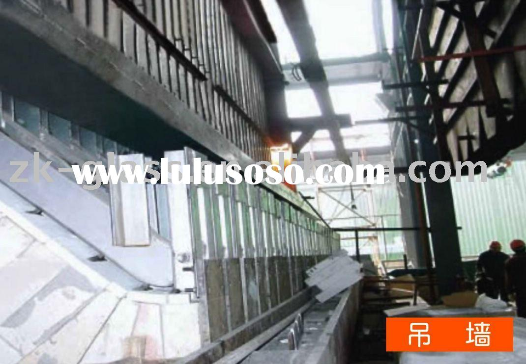L suspended backwall equipment for float glass production line