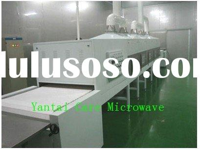Microwave herb drying & sterilizing system